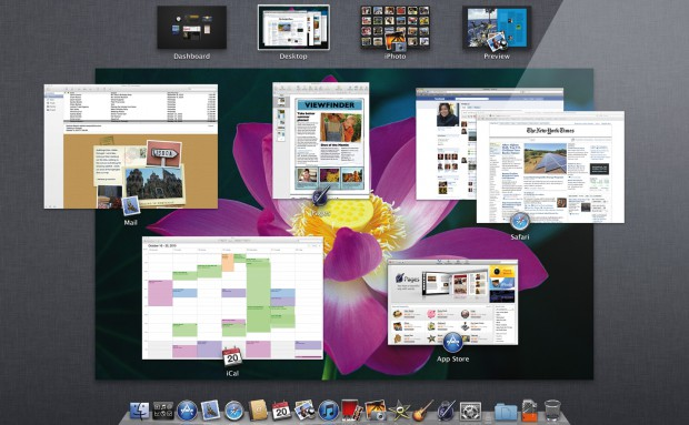 Mac OS X 10.7 Lion - Mission Control