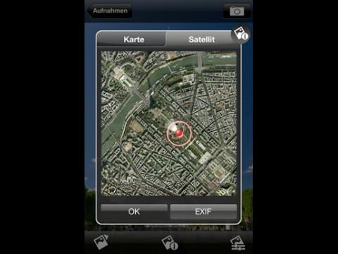Procamera - Aufnahmerichtung des Fotos auf den Karten