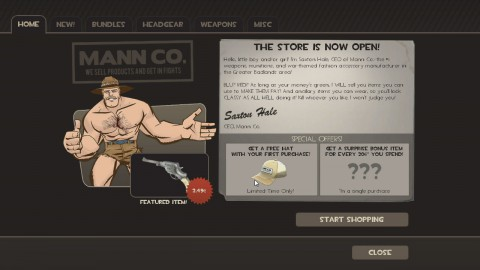 Der Mann-Conomy-Shop in Team Fortress 2