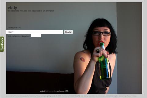 Startseite von vb.ly laut Violet Blue am Starttag 2009