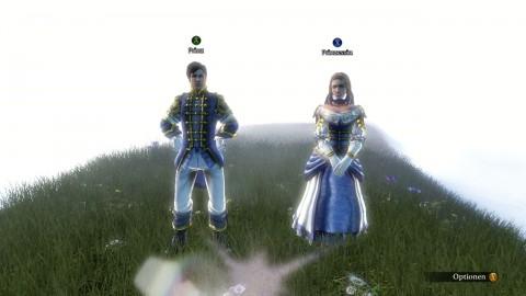 Spieler treten als Prinz oder Prinzessin an.
