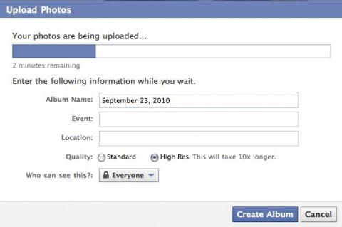 Facebook - neuer Flash-basierter Foto-Uploader (Bild: Facebook)
