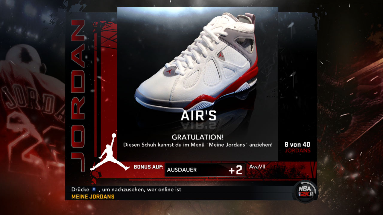 Spieletest NBA 2K11: Eine Zeitreise mit Jordan und Magic - Turnschuhe von 'His Airness' bringen Verbesserungen im Mein-Spieler-Modus.