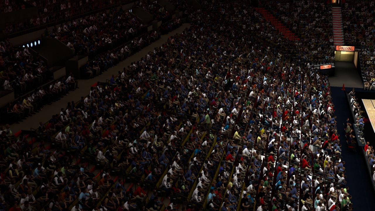 Spieletest NBA 2K11: Eine Zeitreise mit Jordan und Magic - Das Publikum sieht im Vergleich zu anderen Sportspielen gut aus.