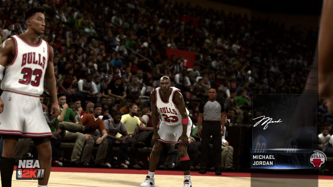 Spieletest NBA 2K11: Eine Zeitreise mit Jordan und Magic - In den Replays gibt es sogar Signature-Posen der Stars...