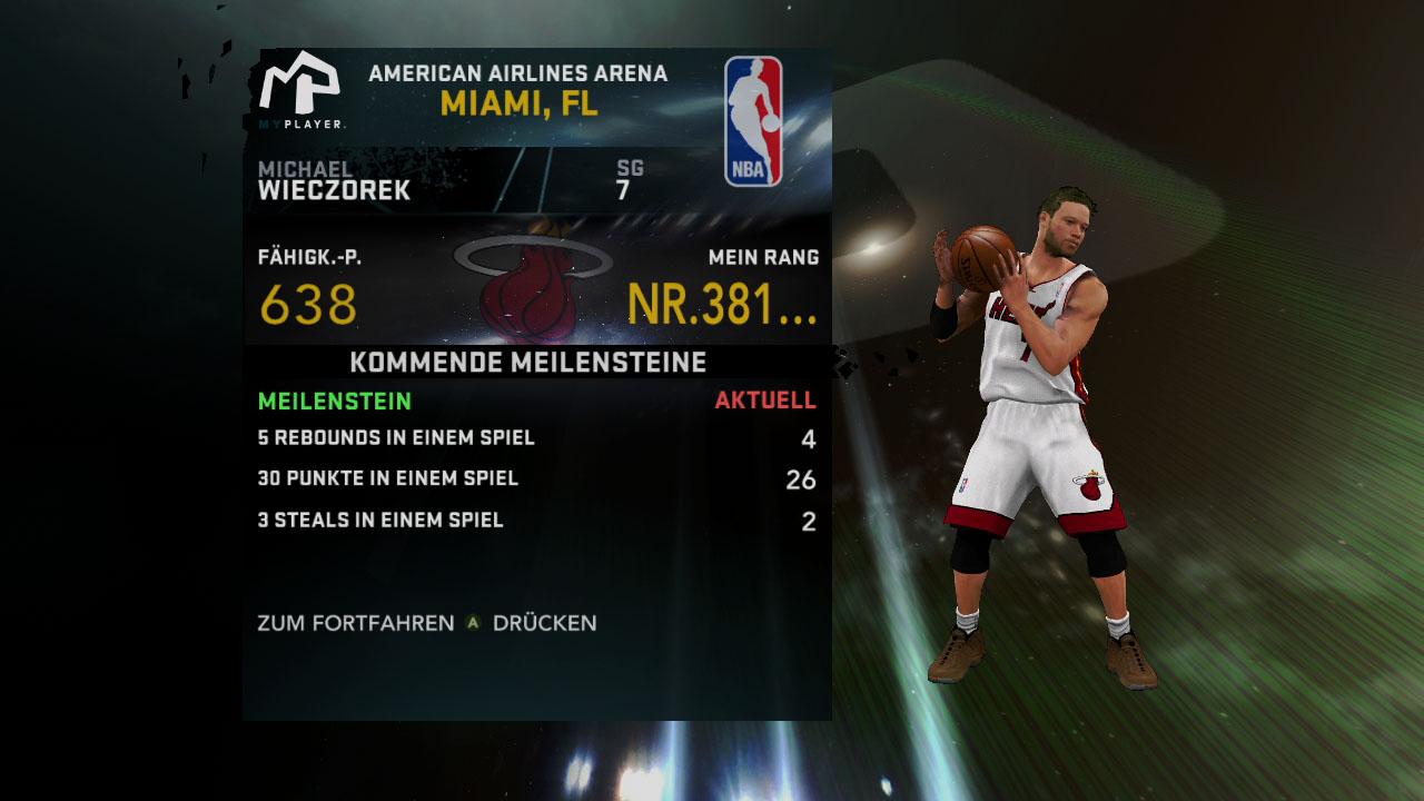 Spieletest NBA 2K11: Eine Zeitreise mit Jordan und Magic - Erreichte Meilensteine in der eigenen Karriere geben jede Menge Erfahrungspunkte.