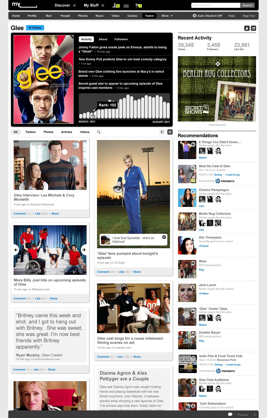 Social Entertainment: Myspace erfindet sich neu -