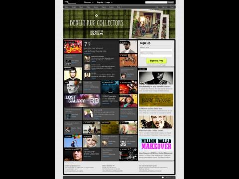 Neue Myspace-Homepage (Screenshot: Myspace)