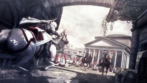 In großen Teil von Rom kann Ezio reiten - auch hier im Pantheon.