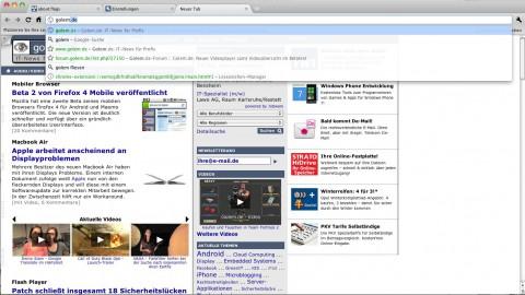 Instant in Chrome 8 lädt Webseiten schon beim Tippen