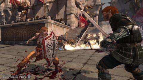 Dragon Age 2: Aveline Vallen im Kampf