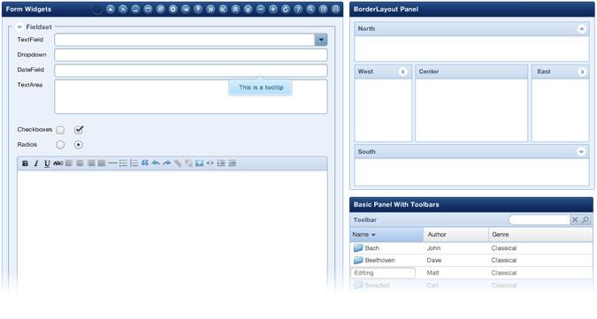 Javascript: Ext JS 4 mit Diagrammfunktionen und Architektur-Framework - Flexiblere Formularlayouts in Ext JS 4
