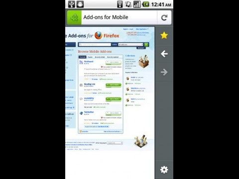 Firefox 4 for Mobile unter Android