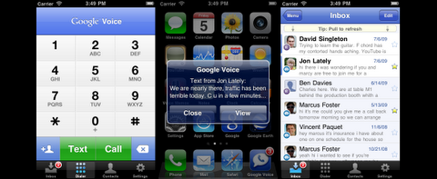 Google Voice auf dem iPhone