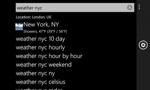 Google Suche für Windows Phone 7