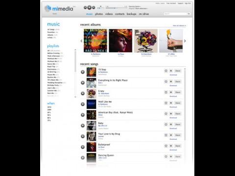 Mimedia - Benutzeroberfläche