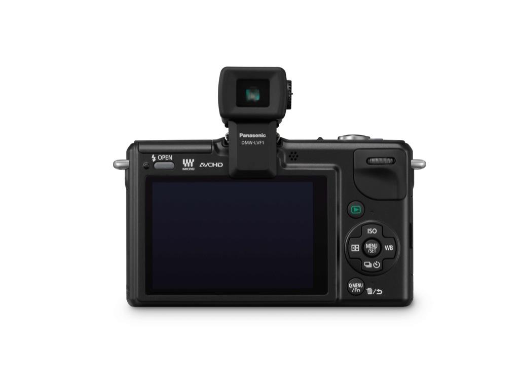 Panasonic: Kleine Kompaktkamera mit Wechseloptik - Panasonic Lumix GF2 mit Aufstecksucher