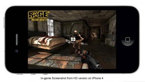 Screenshot von Rage, laut id Software auf einem iPhone 4