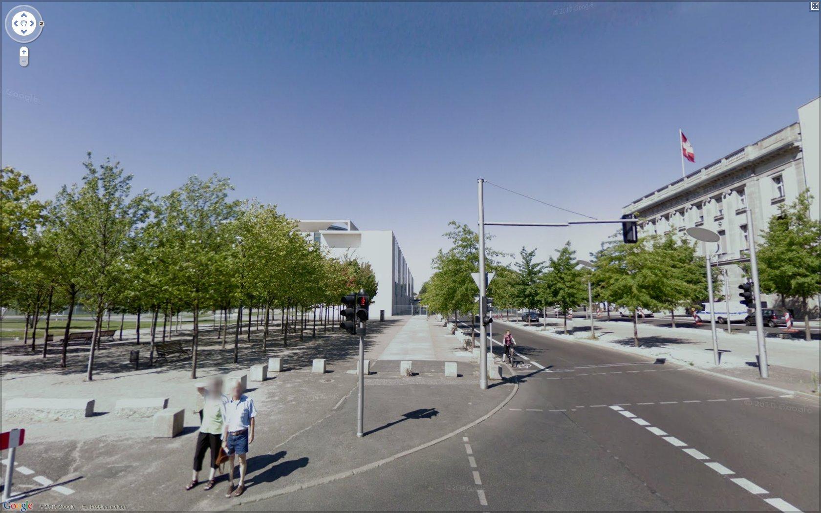 Straßenfotos: Google Street View in Deutschland gestartet - Google Street View: Regierungsviertel in Berlin