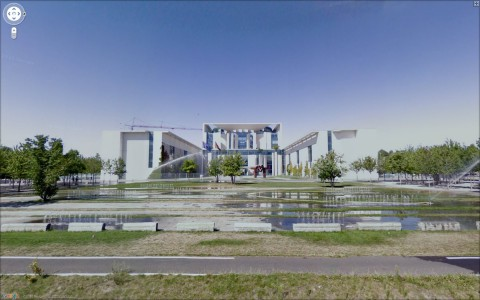 Google Street View: Kanzleramt in Berlin