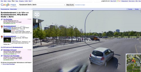 Google Street View: Regierungsviertel in Berlin