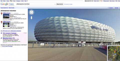 Google Street View: Allianz-Arena in München