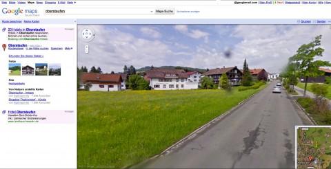 Google Street View: Oberstaufen im Allgäu