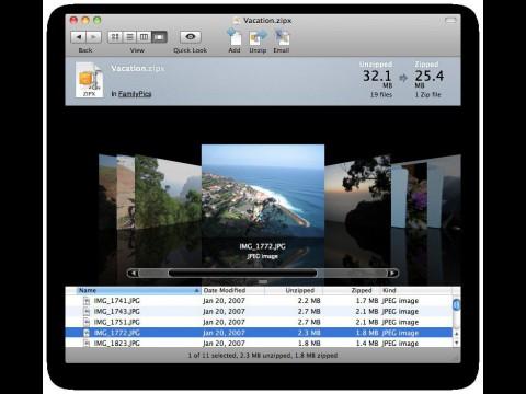 Winzip Mac Edition - Benutzeroberfläche