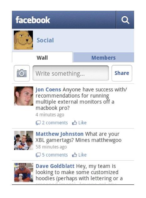 Nur einmal anmelden: Facebook-Login für beliebige Apps - Facebook-Gruppen in der Android-App-Version 1.4 (Bild: Facebook)