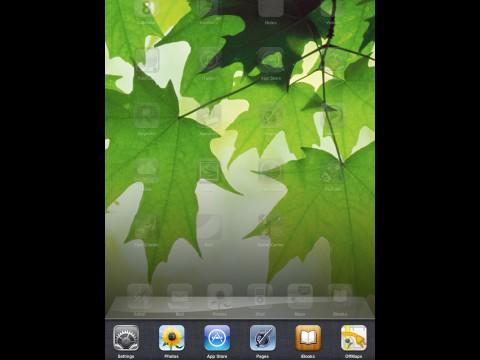 Die Multitaskleiste in iOS 4.2 auf dem iPad
