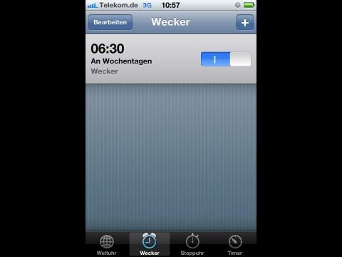 Wecker von iOS 4.1 macht Probleme mit der Zeitumstellung .