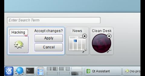 Das Aktivitäten-Dialogfeld in KDE SC 4.6 Beta 1