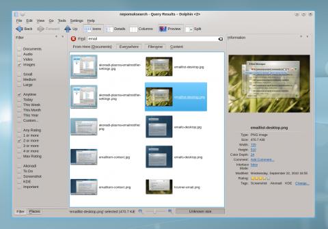Der Dateimanager Dolphin bringt ein neues Layout mit.