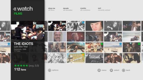 Filmstreaming-Dienst Mubi auf der PS3