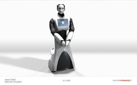 Designstudie des humanoiden Roboters Reem-H2 (Bild: PAL Robotics)