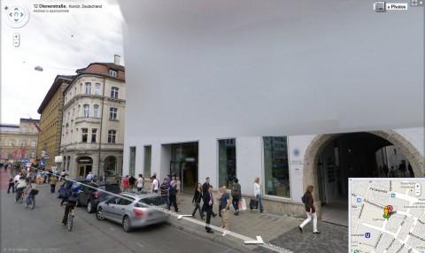 Googles Münchener Büro ist unkenntlich.