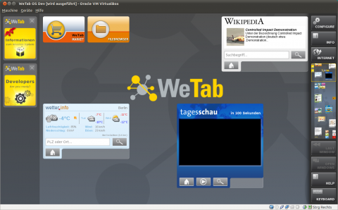WetabOS in der Virtualbox