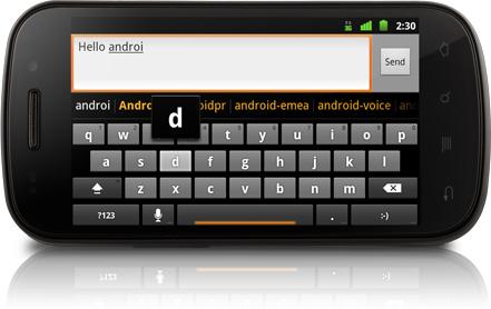 Android 2.3: Googles Smartphone-Betriebssystem wird schneller - Android 2.3 mit verbesserter virtueller Tastatur