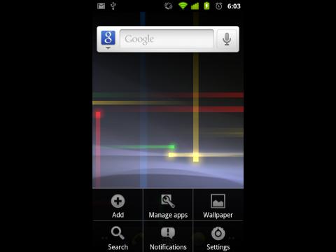 Neues UI für Android 2.3