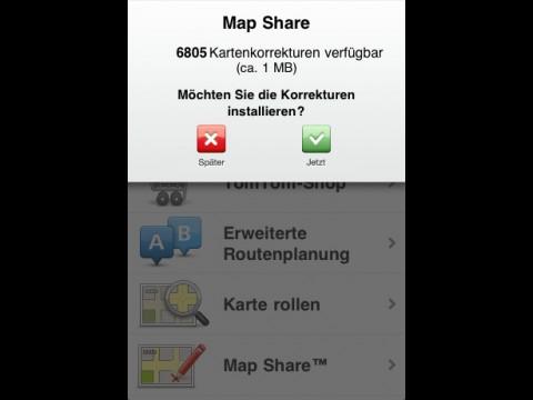 Tomtom App 1.6 - Map-Share-Daten herunterladen