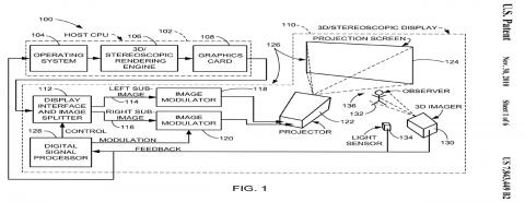 Apples Autostereoskopie-Patent (Bild: US-Patentamt)
