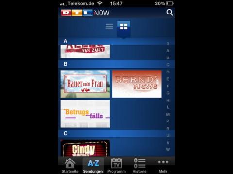 RTL Now für iOS (Bild: RTL)