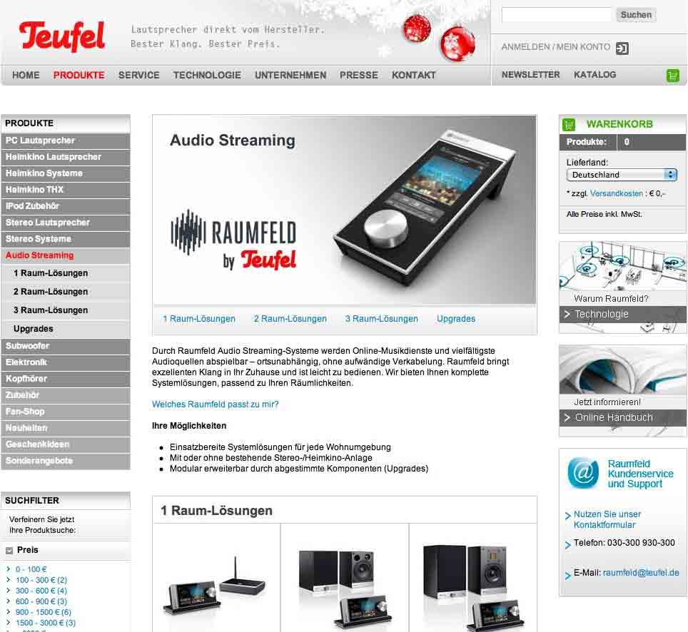 Multi-Room-Audio: Teufel holt sich Raumfeld (Update) - Raumfeld by Teufel