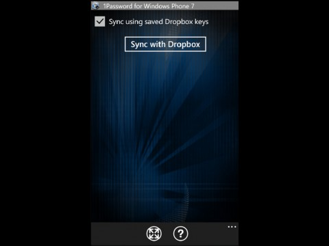 1Password für Windows Phone 7 - Synchronisation mit Dropbox