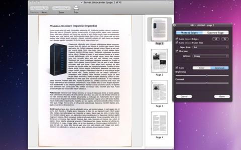 Docscanner für Mac OS X
