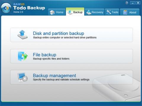 Easeus Todo Backup 2.0 - Backup-Einrichtung