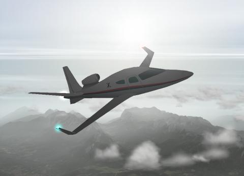 Laminar Research X-1 Cavallo - Designvorschlag im Flugsimulator X-Plane