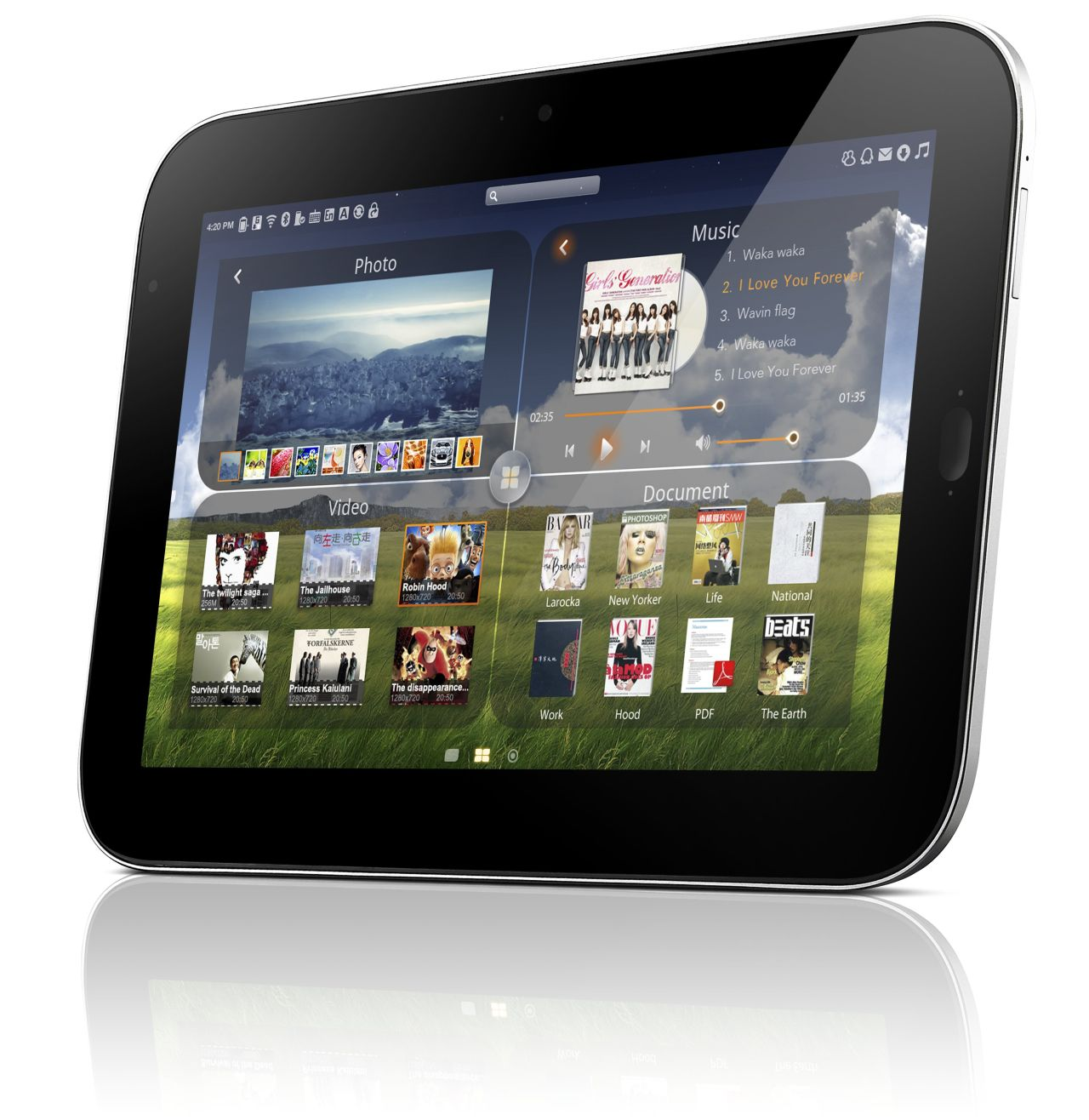 10-Zoll-Tablet: Lenovo zeigt Oak-Trail-Prototyp - Lepad Slate (Android)