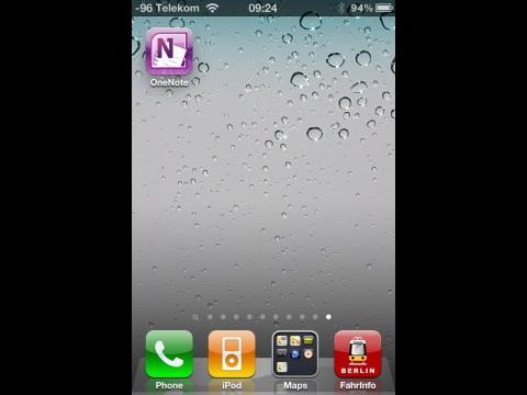 Microsofts Onenote auf dem iPhone