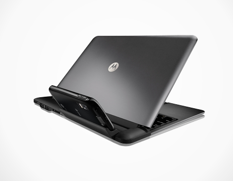 Angeschaut: Laptop Dock macht Motorolas Atrix zum Netbook - Motorola Atrix im Laptop Dock